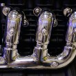 Exhaust pipe of a motorcycle — 图库照片