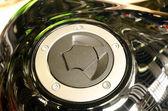 Motorcycle tank cap — Stock Photo