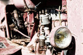 Vintage tractor — Stock Photo