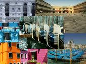 Photo montage of Venice — Stock Photo