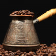Stock Photo: Coffee beans in turk