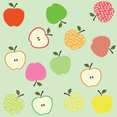 Bright apple background — Stock Vector