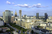 Warsaw aerial view in late afternoon — Stock Photo