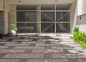 Rio De Janeiro, garage entrance — Stock Photo