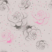 Seamless roses pattern — Stock vektor