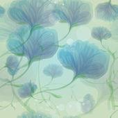 Blauwe wilde rozen in de ochtenddauw — Stockvector