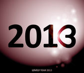 Year 2013 — Stock Vector