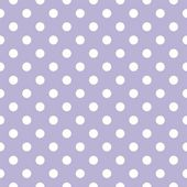 Polka dots on light violet background retro seamless vector pattern — Stock Vector