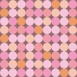 Seamless vector pattern or background with huge colorful dots — Imagens vectoriais em stock
