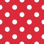 Постер, плакат: Big polka dots on red background retro seamless vector pattern