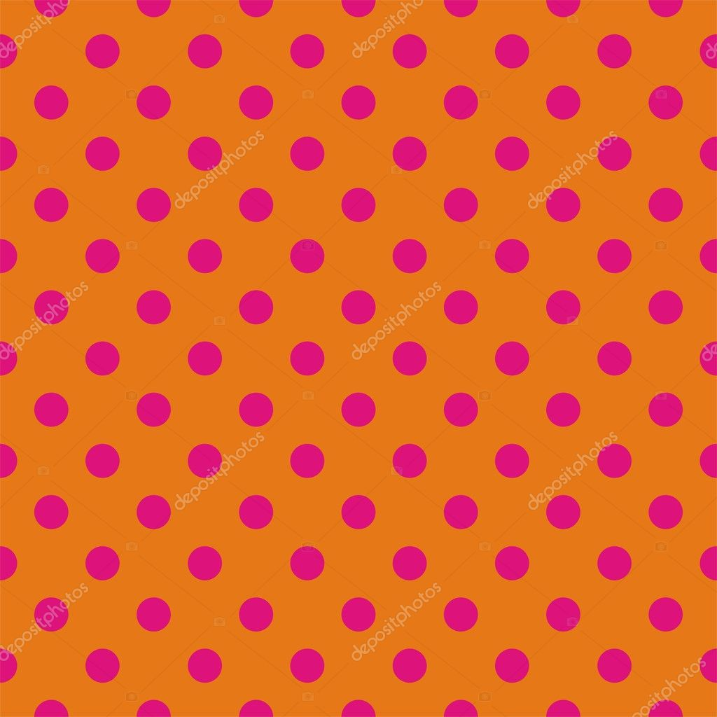 Retro Seamless Vector Pattern With Pink Polka Dots On