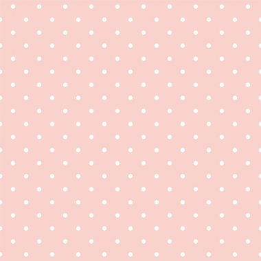 Seamless vector pattern with polka dots on pink background