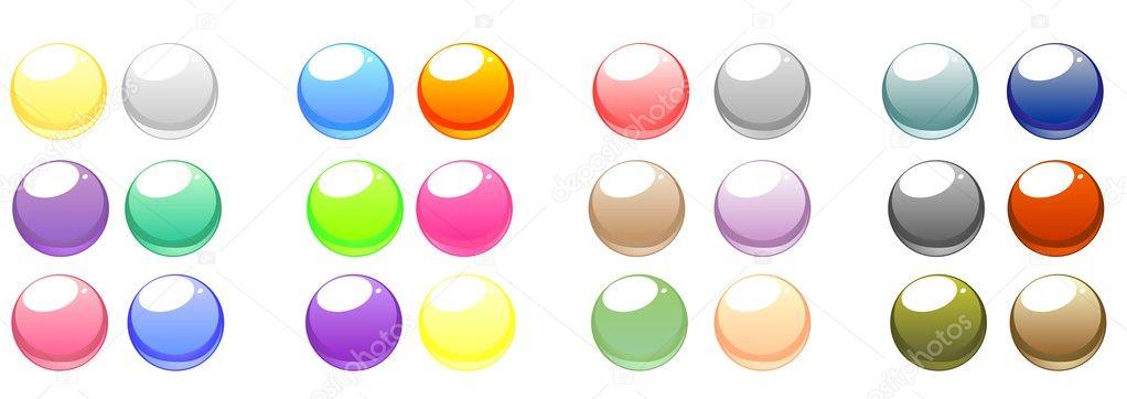 矢量web 按钮设置 — 图库矢量图片
