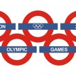 Underground sign for the olympics games in London in summer 2012 — Stock Vector