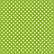 Retro seamless vector pattern with polka dots on spring green background - Stock Vector