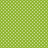 Retro seamless vector pattern with polka dots on spring green background — Stock Vector