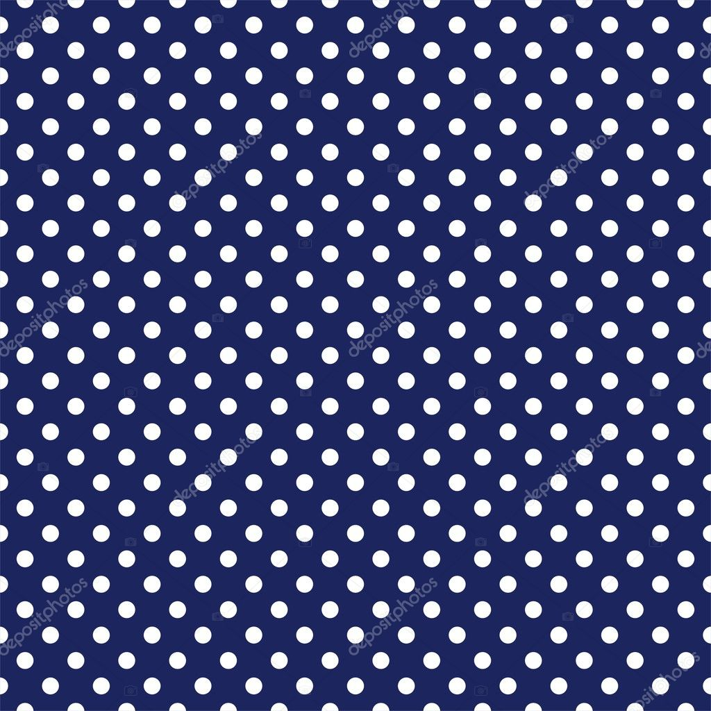 Vector seamless pattern with white polka dots on sailor ...