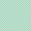 Royalty-Free Stock Vector Image: Polka dots on fresh mint green background retro seamless vector pattern