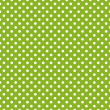 Stock Vector: Seamless vector pattern with white polkdots on fresh grass green background