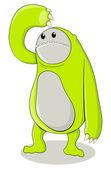 Green Creature — Stock Vector
