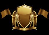 Gold Emblem — Stock Vector