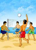 Beach Volleyball — Stock Photo