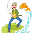 Stock Vector: Fishing