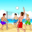 Постер, плакат: Beach Volleyball