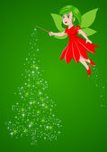 Christmas Pixie — Stock Vector