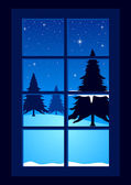 Silent Night — Stock Vector