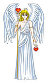 Angel With Heart Symbol — Stock Photo
