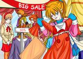 Duża sprzedaż — Zdjęcie stockowe