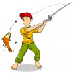 Fishing — Stock Vector