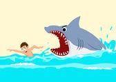 Atak rekina — Wektor stockowy