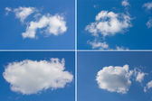 Set of clouds — Stock Photo