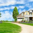 Beautiful country house — Stock Photo