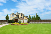 Beautiful two story country house — Stock Photo