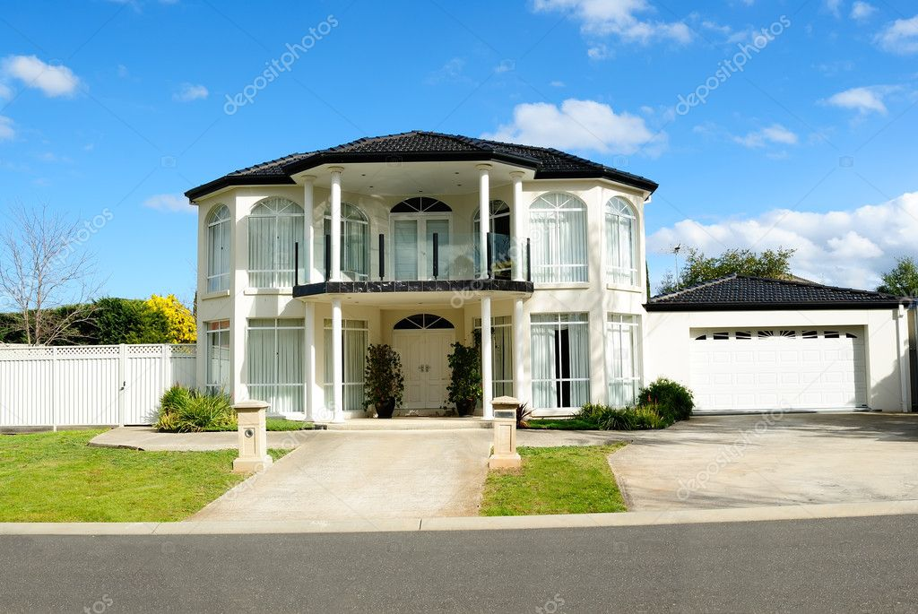 Contemporary and elegant house design stock photo - Home design photo ...