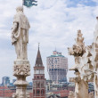 View of Milan from the Cathedral — Stock Photo