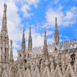 Spires of Cathedral of Milan — Stock Photo #10791814
