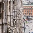 Gargoyles of the Cathedral of Milan — Stock Photo