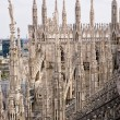 Spiers of the Cathedral of Milan — Stock Photo