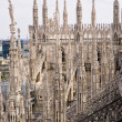 Stock Photo: Spiers of the Cathedral of Milan
