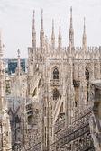 米兰大教堂的尖顶 — 图库照片