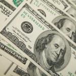 Money background dollars — Stock Photo