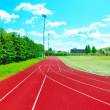 A part of an outdoor stadium - running tracks — Stock Photo #11072703