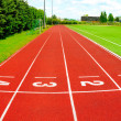 A part of an outdoor stadium - running tracks — Stock Photo