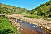 Rocky riverbed of the River Swale — Stock Photo