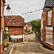 Quaint village of Hamble-le-Rice - Stock Photo