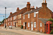 Terraced houses in Hamble-le-Rlce — Stock Photo